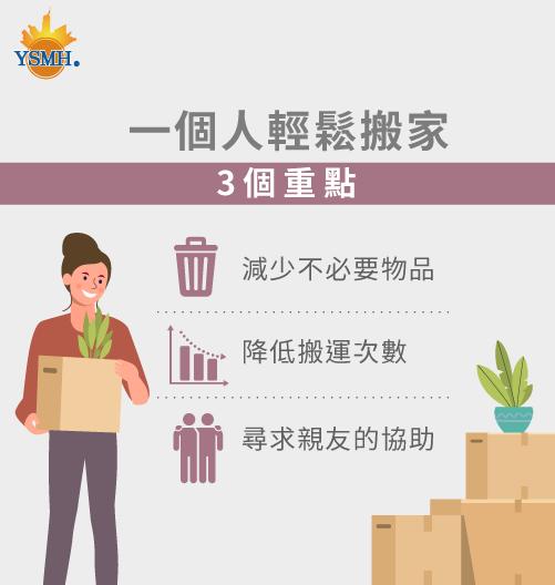 一個人輕鬆搬家的3個重點-一個人怎麼搬家