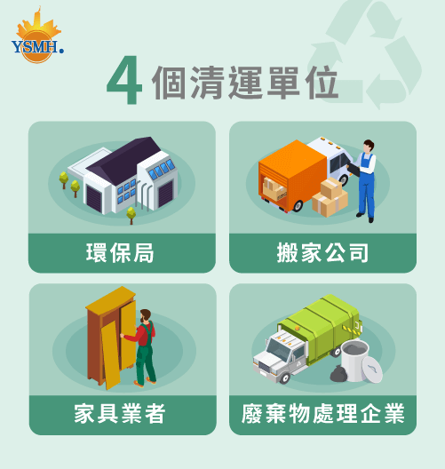4個處理大型家具丟棄的單位-台中搬家推薦
