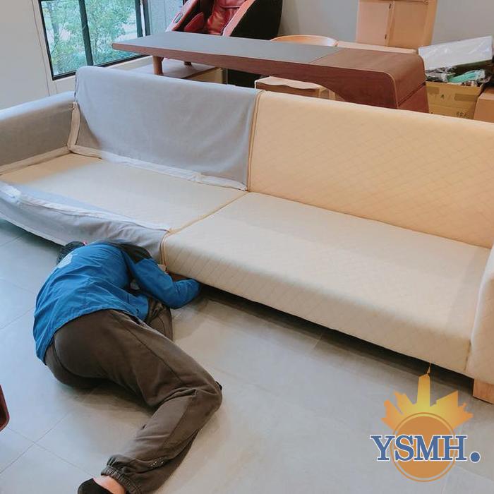 訂製沙發定位安裝-台中搬家